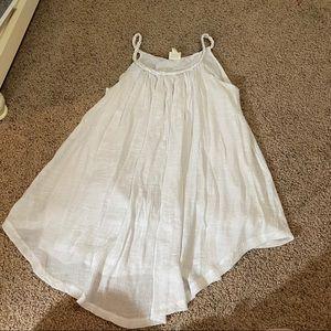Sand & Spirit White Flowy Swimsuit Cover Up Dress